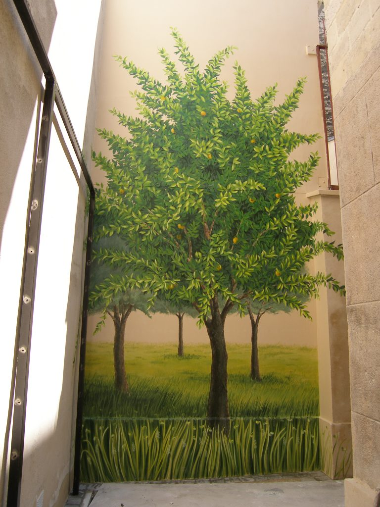 Espace vert peint, Carolyn-arts