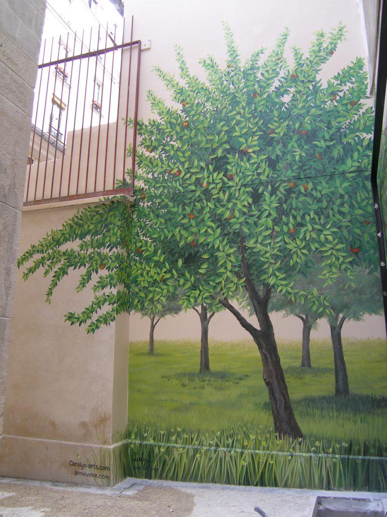 Espace vert peint Carolyn-Arts